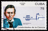 Postage stamp Cuba 1996 Guglielmo Marconi, Physicist — Stock Photo