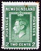 Postage stamp Newfoundland 1938 King George VI, Portrait — Zdjęcie stockowe