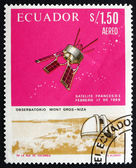 Postage stamp Ecuador 1966 French Satellite D-1 — Photo