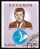 Postage stamp Ecuador 1967 John F. Kennedy, President — 图库照片