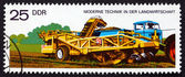 Postage stamp GDR 1977 Potato Digger and Loader — Stok fotoğraf