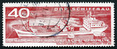Postage stamp GDR 1971 Container Cargo Ship — Stock Photo