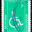 Postage stamp Dominican Republic 1979 Invalid, Symbol — Stock Photo