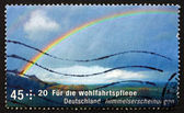 Postage stamp Germany 2009 Rainbow, Celestial Phenomena — ストック写真