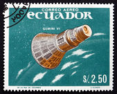 Postage stamp Ecuador 1966 Gemini 6, Manned Spaceflight — Stock Photo