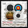 Postage stamp Germany 2011 Targets — Stock Photo #44830575