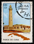 Postage stamp Cuba 1980 Jagua, Cienfuegos, Lighthouse — Stock Photo