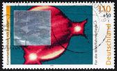 Postage stamp Germany 1999 Comet Shoemaker-Levy 9 and Jupiter — Stock Photo