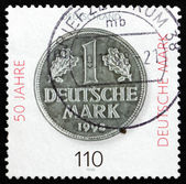 Postage stamp Germany 1998 Deutsche Mark — Stock Photo