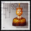 Postage stamp Germany 1988 Bust of Charlemagne — Stock Photo #45178255