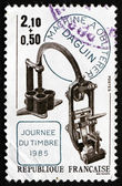 Postage stamp France 1985 Canceling Apparatus by Eugene Daguin — Stock Photo