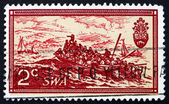 Postage stamp South West Africa 1971 Landing of British Settlers — Stock Photo
