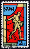 Postage stamp South West Africa 1970 Sower, Stained Glass Window — Stock Photo