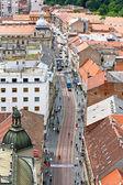 View of Ilica street, Zagreb — Stock Photo
