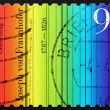 Postage stamp Germany 2012 Colour Spectrum — Stock Photo