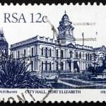 Postage stamp South Africa 1985 Port Elizabeth City Hall — Stock Photo