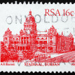 Postage stamp South Africa 1987 Durban City Hall — Stock Photo
