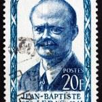 Постер, плакат: Postage stamp France 1957 Jean Baptiste Lebas Politician