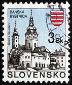 Estampilla eslovaquia 1995 iglesia, banska bystrica — Foto de Stock