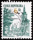 Postage stamp Czechoslovakia 1994 View of Slany — Zdjęcie stockowe