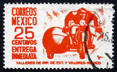 Postage stamp Mexico 1950 Motorcycle, Special Delivery Messenger — Stock Photo