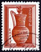 Florero de grecia 1954 estampilla del dipylon — Foto de Stock