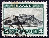 Selo postal grécia 1927 a acrópole de atenas — Fotografia Stock