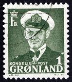 邮票丹麦 1950年弗雷德里克 · 九,丹麦的国王 — 图库照片