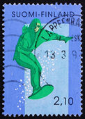 Postage stamp Finland 1991 Skiing — Foto Stock