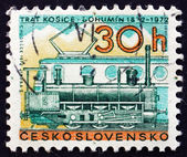 Postage stamp Czechoslovakia 1972 Steam and Diesel Locomotives — Stock Photo