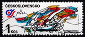 Postage stamp Czechoslovakia 1985 Rhythmic Gymnastics Floor Exer — Stock Photo