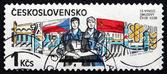 Postage stamp Czechoslovakia 1985 Czech-Soviet Treaty, 1970 — Stock Photo