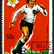 Постер, плакат: Postage stamp Belize 1981 German Player Soccer