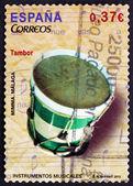 Znaczek hiszpania 2013 bęben, instrumenty muzyczne — Zdjęcie stockowe