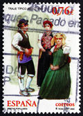 Postage stamp Spain 2003 Traditional Dress from Anso Valley — Stock Photo