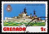 Postage stamp Grenada 1976 H.M.S. Blake, Light Cruiser — Stock Photo