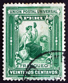 Postage stamp Peru 1902 Liberty, Allegory — Stock Photo
