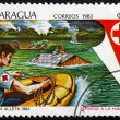 Postage stamp Nicaragua 1983 Red Cross Flood Rescue — Stock Photo #46413227