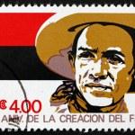 Postage stamp Nicaragua 1981 Augusto Cesar Sandino — Stock Photo #46413625