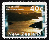 Postage stamp New Zealand 1996 Tory Channel, Marlborough Sounds — Stock Photo