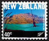 Postage stamp New Zealand 2001 Bungee Jumper, Queenstown — Stock Photo