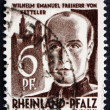Postage stamp Rhine Palatinate, Germany 1947 Wilhelm Emmanuel vo — Stock Photo