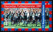 Postage stamp Germany 1997 FC Bayern Munchen — Stock Photo