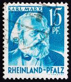 Postage stamp Rhine Palatinate, Germany 1948 Karl Marx, German P — Stock Photo