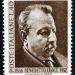 Постер, плакат: Postage stamp Italy 1966 Benedetto Croce Philosopher
