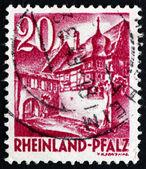 Postage stamp Rhine Palatinate, Germany 1948 Street Corner, St.  — Stock Photo