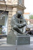 Nikola Tesla sculpture in Zagreb — Stock Photo