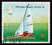 Postage stamp Equatorial Guinea 1980 Sailboat — Stock Photo