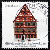 Postage stamp Germany 2012 Half-timbered Building in Dinkelsbuhl — Stock Photo