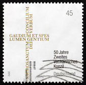 Postage stamp Germany 2012 Second Vatican Council — Stock Photo